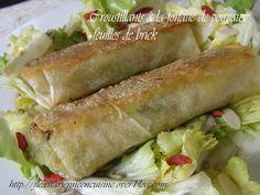 Croustillants à la fondue de poireaux, feuilles de brick Jaclyne  http://flexitarienneencuisine.over-blog.com/ Bonjour tout le monde :) Aujourd'hui je suis heureuse de vous offrir une recette bien facile, avec un légume de saison, qui suscite rarement...