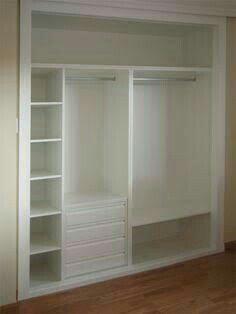 Closet para recamaras pequeñas.