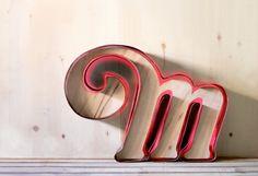 M letter sign