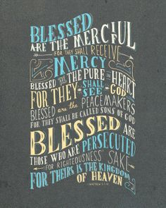 Maybe something similar to this for the bulletin design, but with red, black, white Beatitudes..