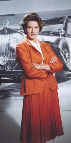 "Ingrid Bergman, 1964, during the filming of  ""The Yellow Rolls Royce."" lmr"