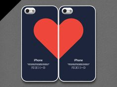 iPhone 4 / 4s Case  Love pairs for couples set of 2 door evoncase, $38.00