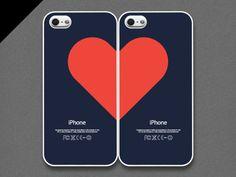 iPhone 5 / 5s caso  pares de amor para parejas juego por evoncase, $30.00