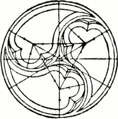 """Zeichnung eines Dreischneuß aus """"A Handbook of Ornament"""" von Franz Sales Meyer (1898)"""