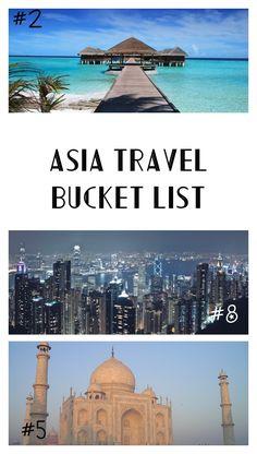 Asia Travel Bucket L