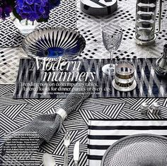 MODERN MANNERS   Silver plated salt and pepper shakers and elegant napkin ring from CONLEY & CO in the latest issue of BELLE Magazine. Belle Magazine, Latest Issue, Manners, Napkin Rings, Silver Plate, Pepper, Salt, Elegant, Abstract