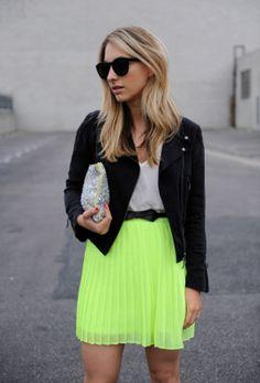 #neon #falda #skirt ♥