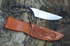 Blacksmith's Knife with Dragon Sheath