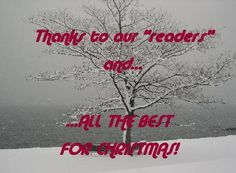"Thanks to all our dear ""readers""!"