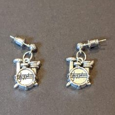 a cute pair of drum earrings, a great gift for any drummer! Drummer Gifts, Drums, Bracelet Watch, Great Gifts, Pairs, Bracelets, Earrings, Cute, Accessories