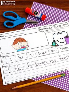 Dental Health Centers for Kindergarten | The Printable Princess