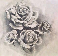 Roses tattoo design/drawing by PufferfishCat.deviantart.com on @DeviantArt