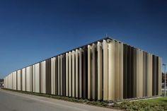 Solar protection with vertical shading elements Facade Design, Solar Shades, Zhengzhou, Environmental Design, Facade Architecture, Aluminium, Outdoor Furniture, Outdoor Decor, Glass