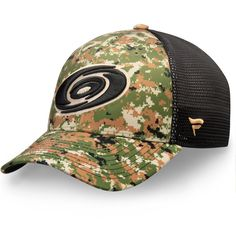 Men s Carolina Hurricanes Fanatics Branded Camo Authentic Pro Military  Appreciation Speed Flex Hat d0e7844220da