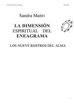Sandra maitri la dimension espiritual del enagrama