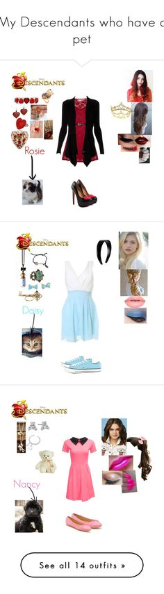 """""""My Descendants who have a pet"""" by maxinehearts ❤ liked on Polyvore featuring Once Upon a Time, Liz Claiborne, TaylorSays, Yumi, Dolce&Gabbana, Liz Law, Tarina Tarantino, Lipsy, disney and OC"""