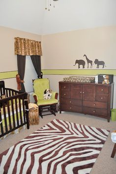 Safari Nursery! We can even work in zebra print if we have a boy!