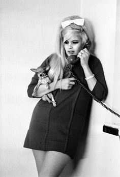 Big hair and a small dogs can make any outfit work Jane Mansfield