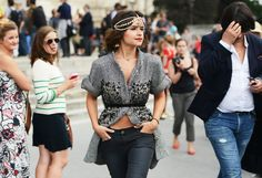 Miroslava Duma in chain head piece