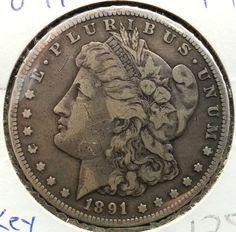1891 CC Carson City Morgan Silver Dollar Fine Key Date Collectors Must See | eBay