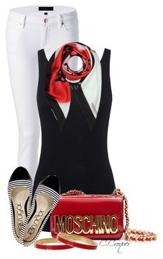 """""""Red Crossbody Bag"""" by ccroquer ❤ liked on Polyvore featuring Juicy Couture, Juvia, Moschino, Valentino and Kate Spade"""