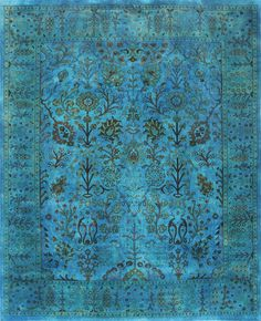 Overdyed Rugs Sale | Home / Overdyed Rugs / Rugsville Overdyed Turquoise Rug 12208