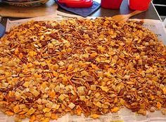 A version of chex snack party mix combining 2 of my Grandmothers recipes. Chocked full of savory taste and enjoyment for serious snack-attacks.