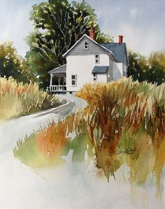 Late Summer Afternoon-watercolor