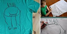 Kid Drawing Father's Day T-shirt