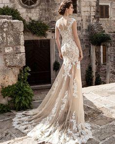 Vestido De Noiva Bridal Gown Champagne Vintage Sexy Lace Detachable Skirt Wedding Dress 2016 Detachable Wedding Dress Train