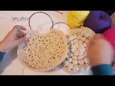 """Tığ işi """"Romashka""""örgü çanta yapımı 3/3 #Flower #crochet #bag 3 bölüm - YouTube Love Crochet, Learn To Crochet, Crochet Shawl, Crochet Lace, Crotchet Bags, Knitted Bags, Crochet Handbags, Crochet Purses, Crochet Wallet"""
