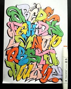 Photo Grafitti Alphabet, Graffiti Alphabet Styles, Graffiti Lettering Alphabet, Graffiti Writing, Graffiti Font, Graffiti Tagging, Doodle Lettering, Graffiti Styles, Doodle Fonts