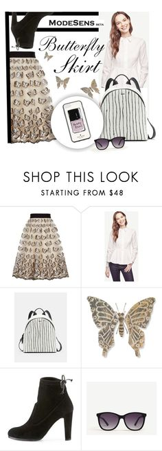 """""""Sunny Day Outfit"""" by modesens ❤ liked on Polyvore featuring Alice + Olivia, Ann Taylor, DKNY, WALL, Stuart Weitzman and Kate Spade"""
