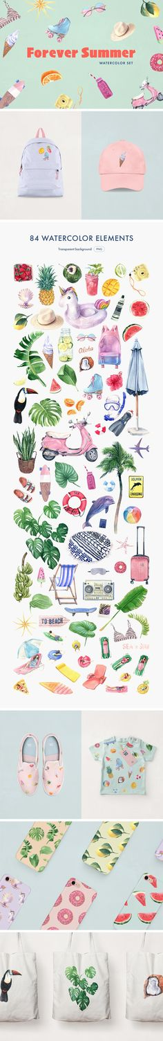 Forever Summer Watercolor Set