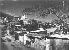 Frenchtown, St Anne's Church on hill.