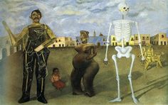 Four Inhabitants of Mexico, 1938 by Frida Kahlo. Naïve Art (Primitivism), Surrealism. Private Collection Palo Alto, California, U.S.A