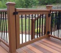 Safety gates for your deck rail come in all different types of styles, materials and sizes.