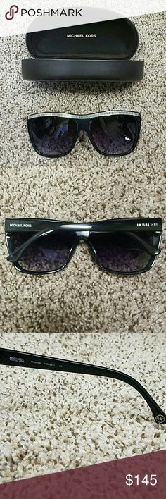 Michael Kors rhinestone sunglasses Michael Kors sunglasses. Black with rhinestones. No stones missing. No scratches. Excellent condition. Case included. Michael Kors Accessories Glasses