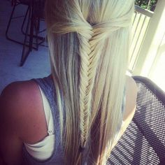 Half up fishtail