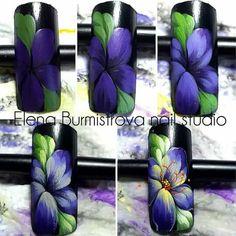 30 ideas pedicure designs nailart nail art tutorials for 2019 Nail Art Designs, Flower Nail Designs, Pedicure Designs, Flower Nail Art, Nail Polish Designs, Uñas One Stroke, One Stroke Nails, Nail Art Fleur, Violet Pastel