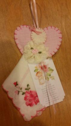 Vintage handkerchief angel ornaments by enjynlife on Etsy
