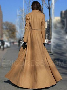 Ericdress Stand Collar Long Style Coat 3
