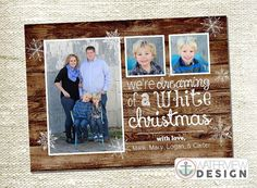 barnwood white christmas / holiday card printable from www.waterviewshop.etsy.com