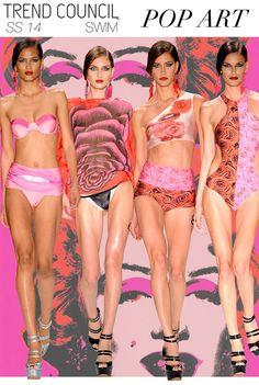 Roses - Trend Council Updates Pop Art Fashion, Fashion Themes, Floral Fashion, Fashion Prints, Trends 2015 2016, Swimwear 2015, Trend Council, Beach Attire, Fashion Forecasting