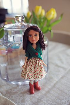 April - Makeunder Bratz Repaint Doll - Vintage Style on Etsy, $64.31