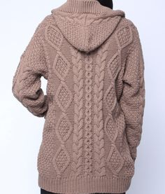 Casual Twisted Print Warm Thicken Sweater Coat