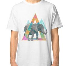 """""""Triangel Elephant"""" Classic T-Shirts by deborahlily 