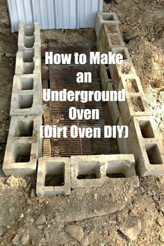I never knew you could do this ~ DIY an underground oven ~ they're great for making ribs, chicken, turkey and side dishes ~ this would be great for summer entertaining.