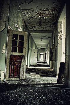 decaying psychiatric hospital