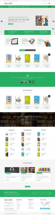 Book Store WordPress theme is responsive #WooCommerce theme for selling online #books, #eBook or magazine. Download Now!